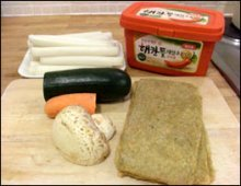Ddukbokki ingredients