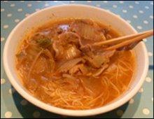 Kimchi Noodle soup picture