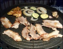 Korean barbecue at home picture ready to eat