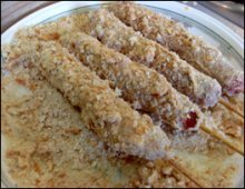 sausage with bread crumbs
