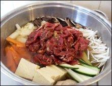 Bulgogi Jeongol in a saucepan
