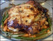 Roast chicken cooked