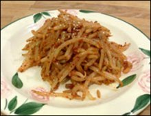 Beansprout side dish Korean food
