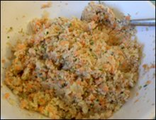 vegetable bread mixture
