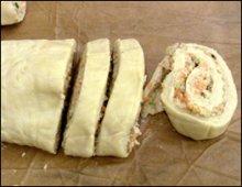 Vegetable Bread sliced