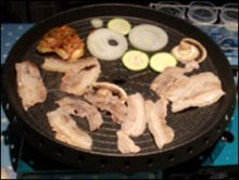 Korean barbecue at home picture cooking with kimchi