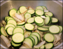 Courgettes Frying