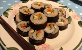Sliced Vegetable Kimbap