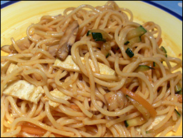spicy spaghetti noodles ready to eat