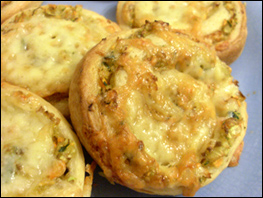 Vegetable bread Recipe Close up