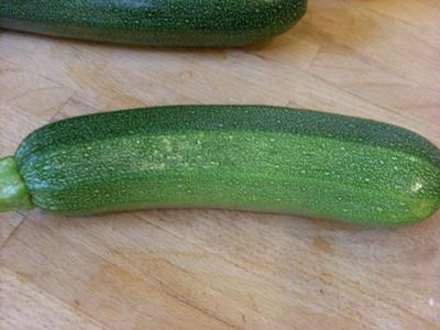 A courgette or Zucchini