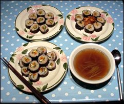 Kimbap on plate picture