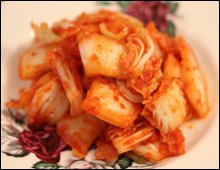 Kimchi on a plate