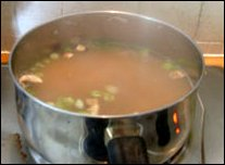 Miso soup cooking picture