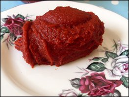 Home made gochujang Recipe on plate